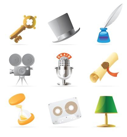 Retro icons. Vector illustration. Stock Vector - 10893031