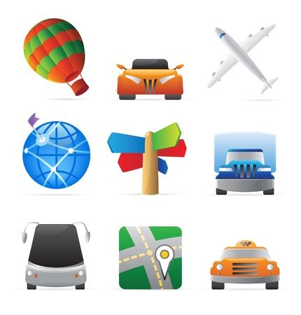 Icons for transportation. Vector illustration. Stock Vector - 10893036