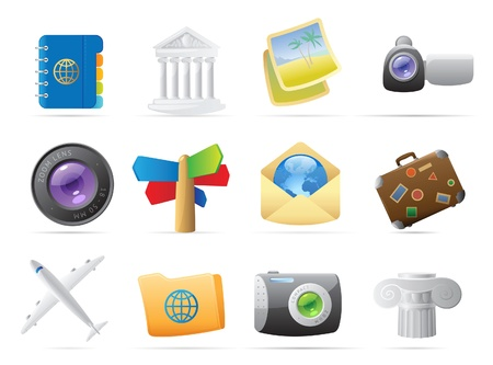 Icons for travel. Vector illustration. Stock Vector - 10893057