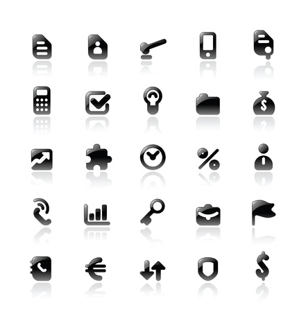 Perfect designer vector icons for business. Main shape, highlights and reflection are in separate layers. Stock Vector - 10893111