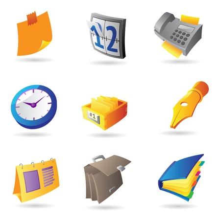 icono fax: Iconos de oficina y papeler�a. Ilustraci�n vectorial.