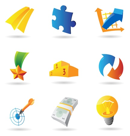 Icons for business symbols. Vector illustration. Stock Vector - 11017240