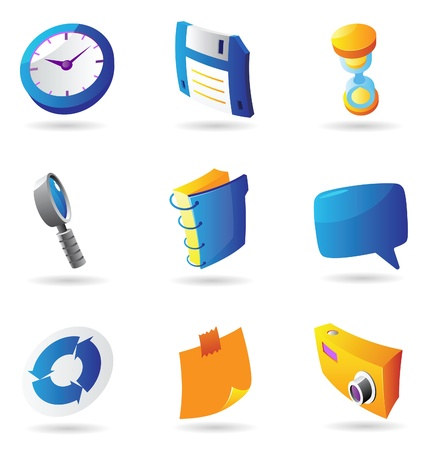 floppy: Icons for interface. Vector illustration. Illustration