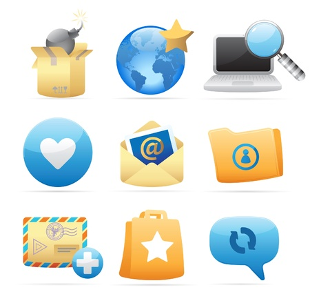 metaphor: Icons for concepts and metaphor. Vector illustration.