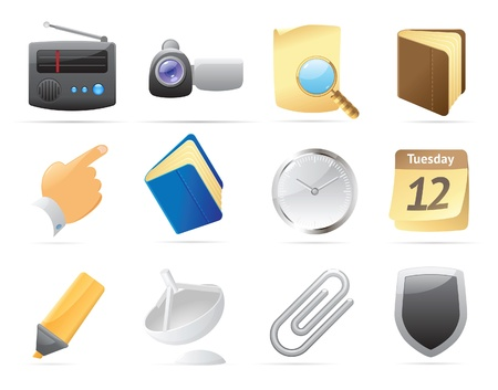 Icons for computer and website interface. Vector illustration. Stock Vector - 11017263