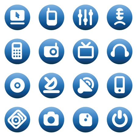 Set of media devices icons. Vector illustration. Vector