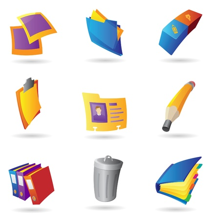 Icons for office. Vector illustration. Vector