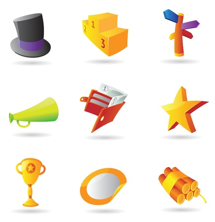 Icons for business metaphor. Vector illustration. Vector