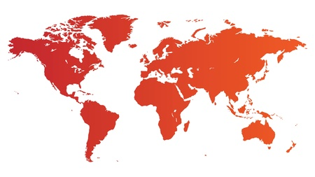 High quality red vector map of the World.