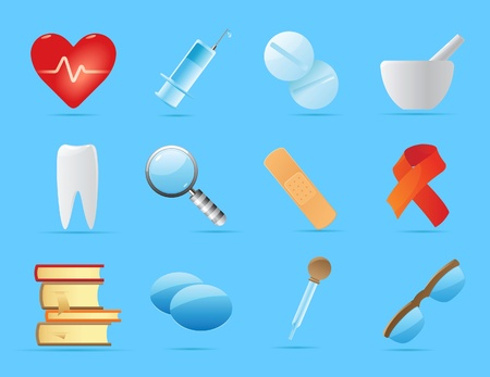 Icons for medicine. Vector illustration. Stock Vector - 11175166