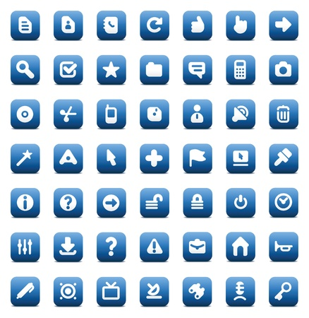 Designers icons set for computer and website interface. Vector illustration. Stock Vector - 11393382