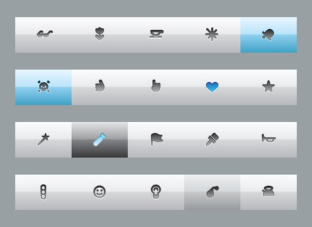 Miscellaneous interface buttons. Vector illustration. Vector