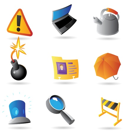 Icons for program interface. Vector illustration. Vector