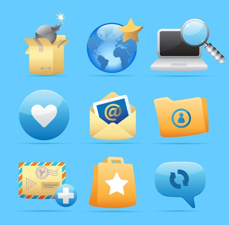 Icons for concepts and metaphor. Vector illustration. Stock Vector - 11393311