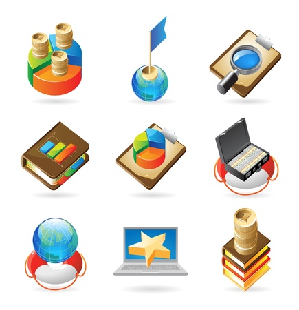 Vector concept icons for business and finance. Illustrations for document, article or website. Vector
