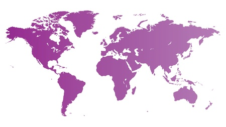 High quality violet vector map of the World. Illustration