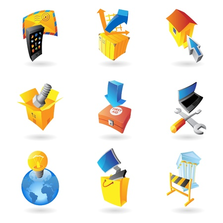 Icons for industry. Vector illustration. Stock Vector - 12116472