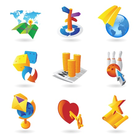 Icons for leisure and travel. Vector illustration. Stock Vector - 12116475