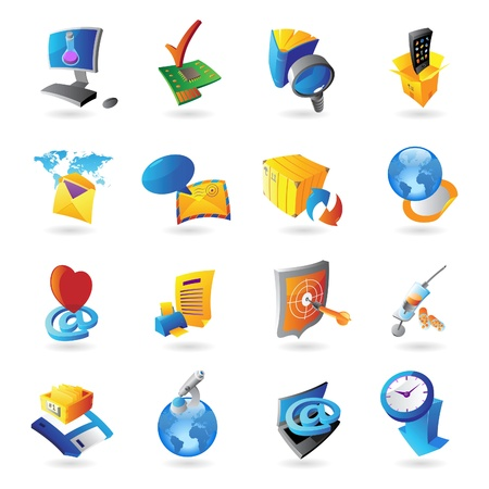 Icons for technology and computer interface. Vector illustration. Stock Vector - 12116482