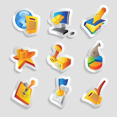 Icons for business and finance. Vector illustration. Vector
