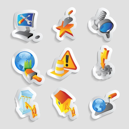 Icons for industry. Vector illustration. Vector