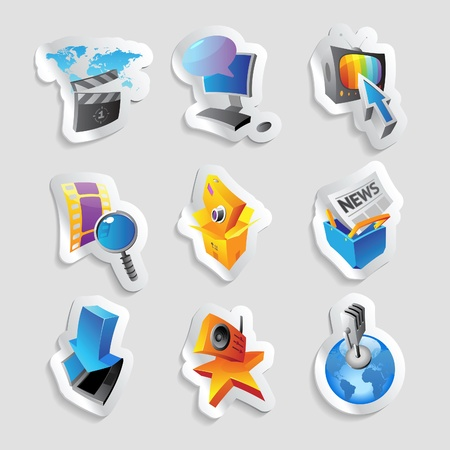 Icons for media and entertainment. Vector illustration. Stock Vector - 12116489