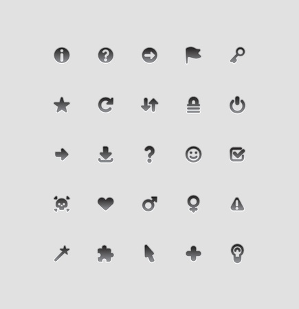 Interface icons for signs and symbols. Vector illustration. Vector