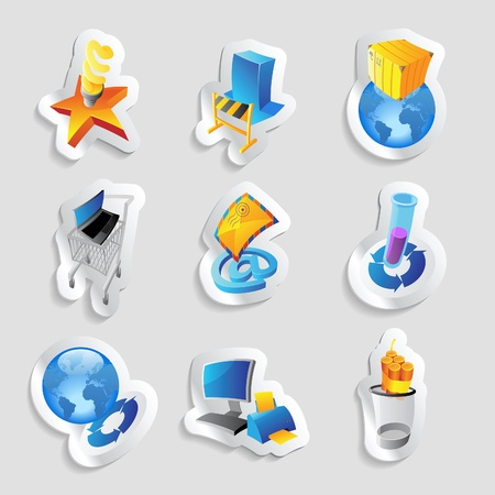Icons for industry, energy and ecology. Vector illustration. Stock Vector - 12885895