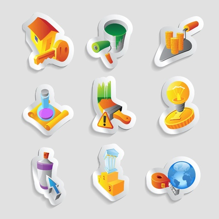 sticky tape: Icons for industry. Vector illustration. Illustration