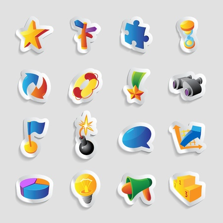 Icons for symbols and metaphors. Vector illustration. Vector