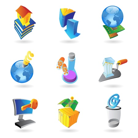 Icons for industry and ecology Stock Vector - 13094373