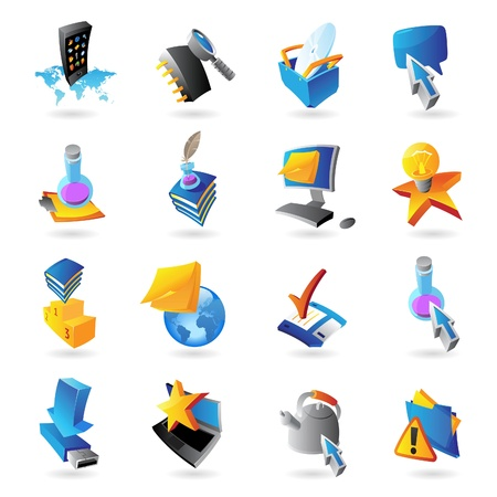 electronic book: Icons for technology and computer interface
