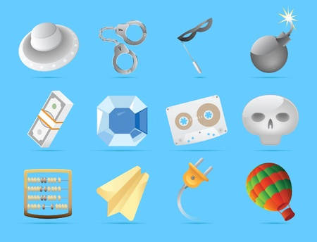 Miscellaneous icons. Vector