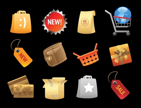 Icons for retail. Vector illustration. Vector