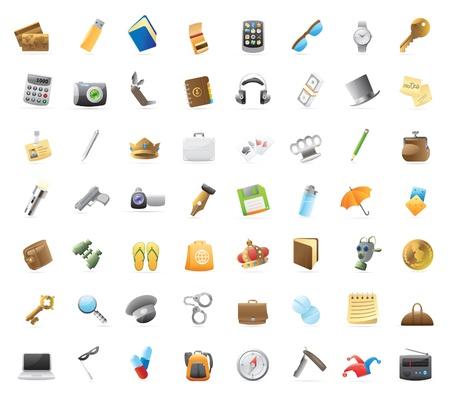 tu puedes: Objetos personales: 56 iconos detallados para las cosas que puede llevar.