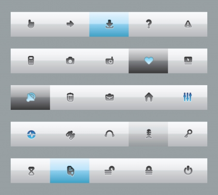 Interface buttons for computer programs and web-design. Vector illustration. Vector