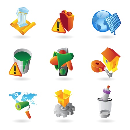 Icons for industry. Vector illustration. Stock Vector - 13853167