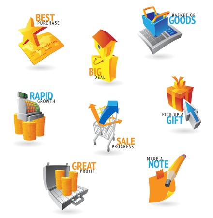 Icons for retail commerce. Vector