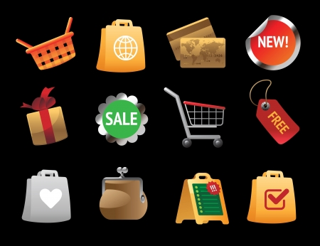 Icons for shopping. Vector