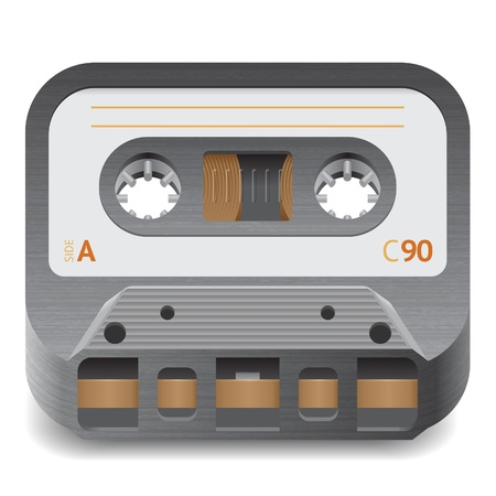 Icon for audio cassette. White background. Stock Vector - 13853900