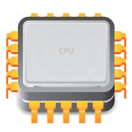 microprocessor: Icon for microprocessor. White background.