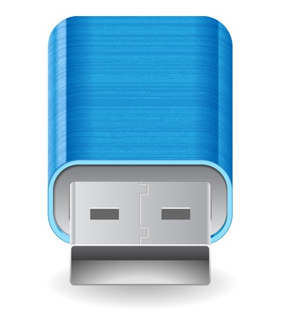 flash drive: Icon for flash drive. White background. Illustration