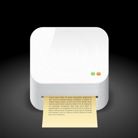 Icon for printer. Stock Vector - 14202672