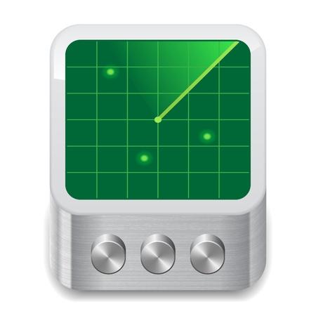 sistema operativo: Icono para el radar. Blanco fondo. Vector guardar como EPS-10, el archivo contiene objetos con transparencia. Vectores