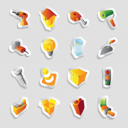 Icons for industry and technology. Vector illustration. Vector