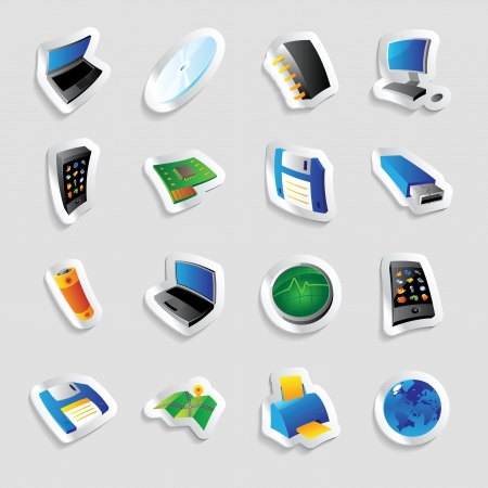 Icons for industry and technology.  Vector