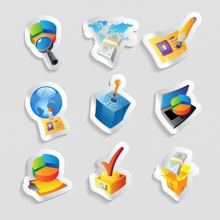 Icons for business and finance. Vector