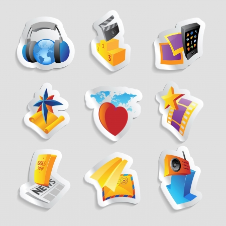 clipart podium: Icons for media and entertainment
