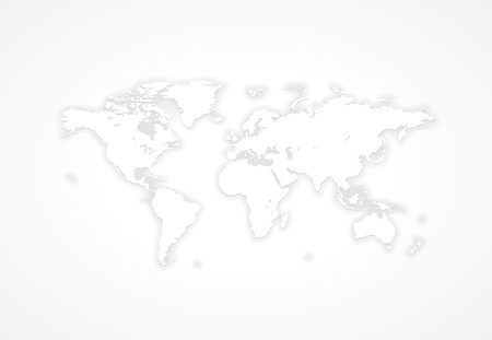 Gray world map.