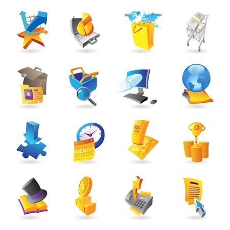 cash book: Icons for business and finance  Illustration
